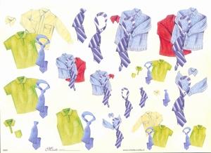 Knipvel A4 Mireille E625 Heren hemd