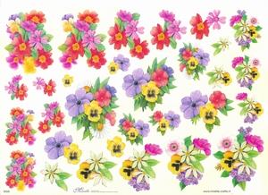 Knipvel A4 Mireille E626 Bloemen