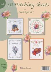 Ann's Paper Art 3D Stitching Sheets 18 Diverse