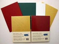 A5 blok Karton groen-rood  50 vellen