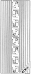 Stickervel Starform Hollografisch 7004 Lijntjes