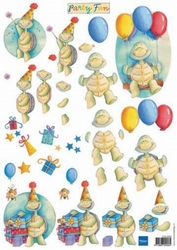 MD A4 Knipvel FUN0003 Party fun Schildpadjes