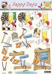 3D Knipvel Happy Days 102 Man Darts/gereedschap