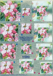 Dufex A4 Knipvel Metallic Pyramide 248705 Roze bloemen