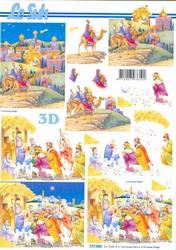 A4 Kerstknipvel Le Suh 777083 De wijze bezoeken Jezus