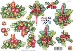 A4 Kerstknipvel Le Suh 8215159 Kerststuk groen/rood