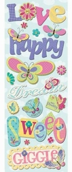 K&Company Adhesive Chipboard Accents butterflies