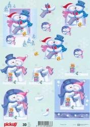 A4 Kerstknipvel Pickup 040 Sneeuwpoppen