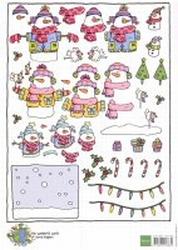 A4 Kerstnipvel Marianne D Co7404 Corrie's sneeuwman