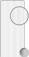 Stickervel 0442 dunne lijntjes