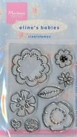 MD Clear stamps EC0109 Eline's Babies Bloemen