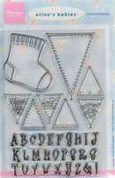 MD Clear stamps EC0108 Eline's Babies Vlaggetjes