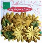 MD Big paper flower CP8949 Lente geel