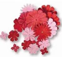 Rayher Papier bloemen mengeling 5168 Roodtinten