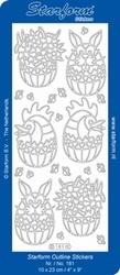 Stickervel Starform  181 Pasen eieren