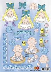 A4 Knipvel Carddeco CD10025 Betsy Lurvink - It`s a Boy