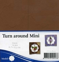 3D Stanskaarten linnenpersing Turn around PPKM003 Bruin