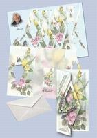 Kaart serie Staf Wesenbeek swk30-207 Voorjaar Vlinder/Roos