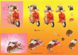 Knipvel A4 Mireille Örme 01 Hond in schoen/met scooter