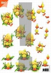 A4 Knipvel Joy 3D Flowers 6010/1017 pasen nr.1