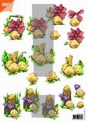 A4 Knipvel Joy 3D Flowers 6010/1018 pasen nr.2
