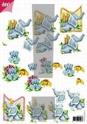 A4 Knipvel Joy 3D Flowers 6010/1016 Baby