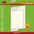Lomiac Luxe Kaart © LC2141 zigzag met rechthoek blauw