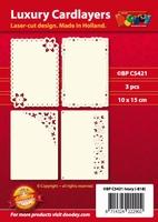 1 Doodey Luxe oplegkaart stans BPC5421 Floral Mini Mix