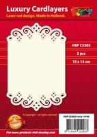 1 Doodey Luxe oplegkaart stans BPC5303 Floraal met golven
