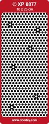 Stickervel Doodey Transparant  XP6877 Polka dots glitter