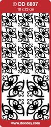 Doodey Stickervel DD6807 Hoekjes Harten Decoratief