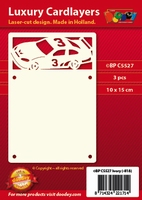 1 Doodey Luxe oplegkaart stans BPC5527 Raceauto