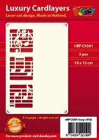 1 Doodey Luxe oplegkaart stans BPC5501 Muziek notenbalk