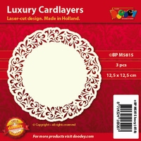 Doodey Luxe oplegkaart stans BPM5815 Ornament rand