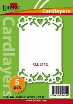 Lomiac Oplegkaart LL2112 romantiek 2 wit