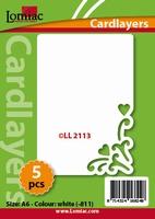 Lomiac Oplegkaart LL2113 romantiek 3 ivoor