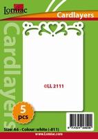 Lomiac Oplegkaart LL2111 romantiek 1 wit