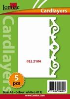 Lomiac Oplegkaart LL2104 krullen 4 wit