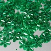 Bloemen pailletten PK125 groen transparant