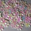 Bloemen pailletten PK010 parelmoer
