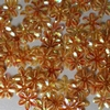 Bloemen pailletten PK124 oranje transparant