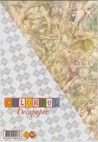 Carddeco Deco Paper DP05 geel creme