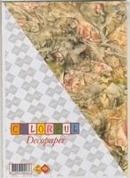 Carddeco Deco Paper DP04 geel zalm