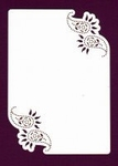 Foliart Linnenpersing Oplegkaart 020 paisley wit