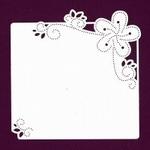 Foliart Linnenpersing Oplegkaart 016 bloem wit