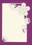 Foliart Linnenpersing Oplegkaart 018 bloem wit