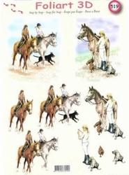 A4 Knipvel Foliart 519 Paardrijden