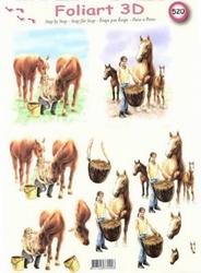 A4 Knipvel Foliart 520 Paard verzorgen