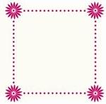 Foliart 4-kante Laser kaart K8316 bloem in hoeken 03 crème