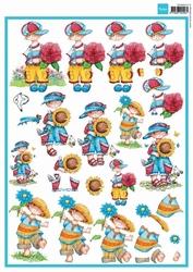 MD A4 Knipvel Hetty's Snoesjes 3DHM013 Bloem boys